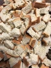 cubed keto bread